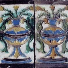 Par de azulejos por tabla