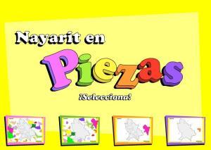 Municipios de Nayarit. Puzzle. INEGI de México
