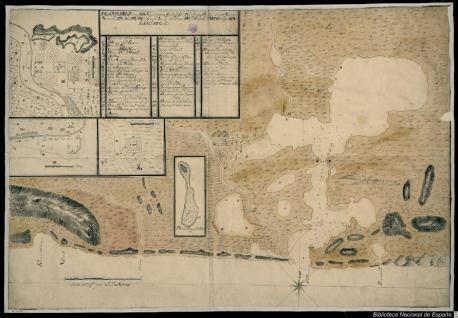 Plano del Puerto del Guantanamo