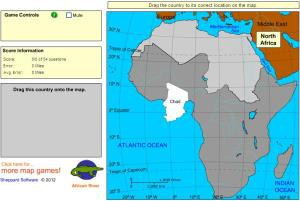Countries of Africa. Advanced Beginner. Sheppard Software