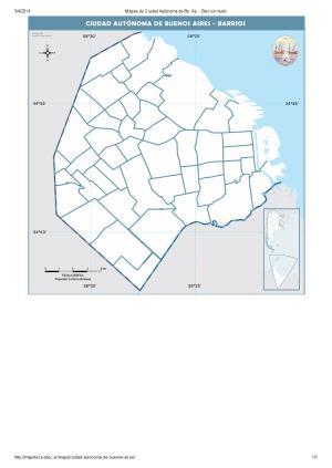 Mapa de barrios mudo de la ciudad de Buenos Aires. Mapoteca de Educ.ar