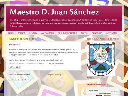 Maestro D. Juan Sánchez