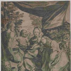 La Virgen y el Niño con San Jerónimo y la Magdalena