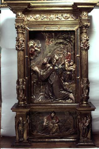 Fragmento de retablo con la Oración en el Huerto