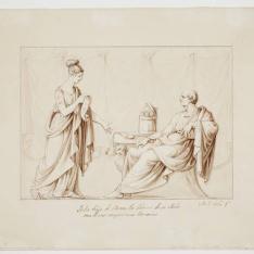 Tulia, hija de Cicerón, lee delante de su padre una de sus composiciones literarias