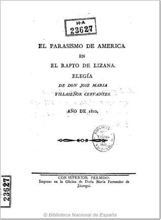 El parosismo de America en el rapto de Lizana