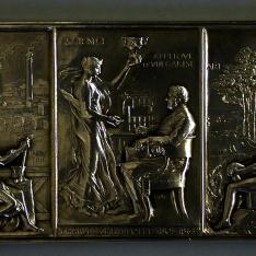 Placa conmemorativa del 50 Aniversario de Christofle & Cie.