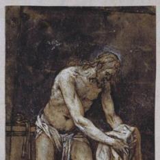 Cristo flagelado, recogiendo sus vestiduras