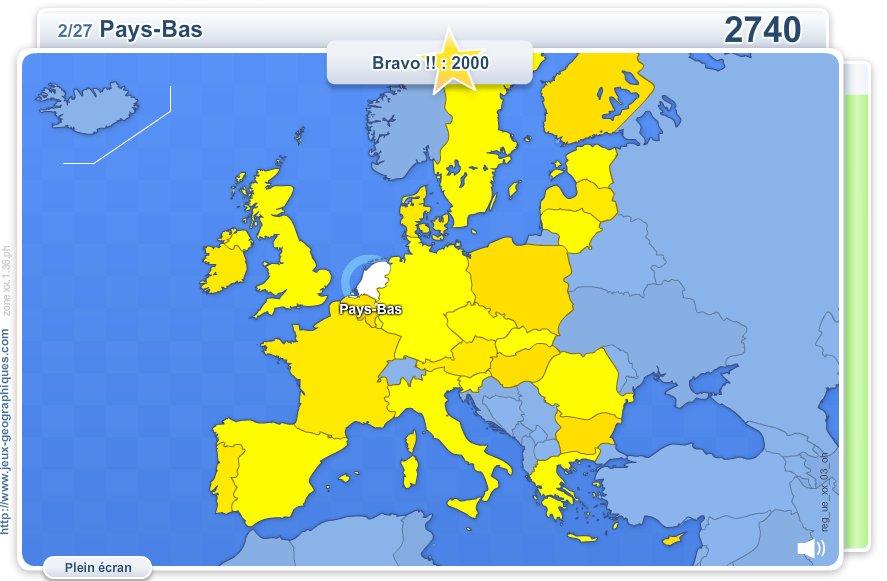 Pays de l'Union Européenne. Jeux géographiques