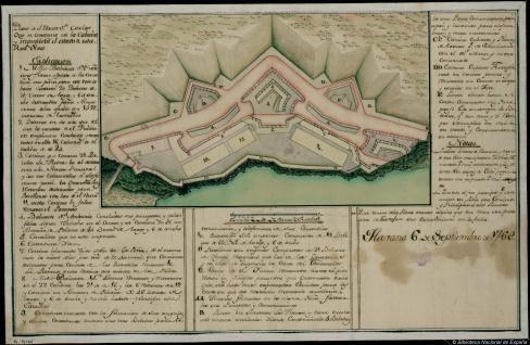 Plano de el Fuerte Sn. Carlos