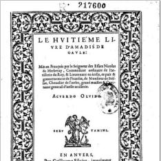 Le huitiéme livre d´Amadis de Gaule