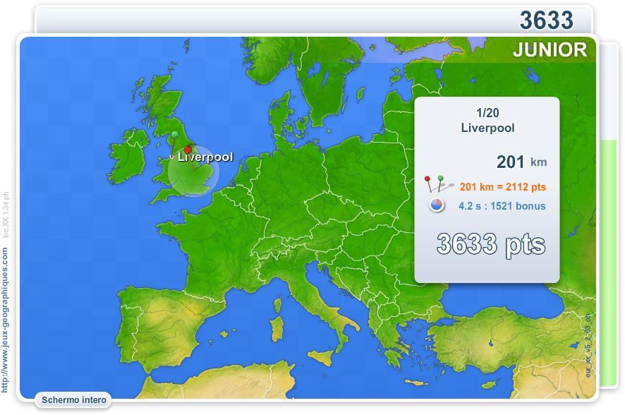Città d'Europa junior. Giochi geografici