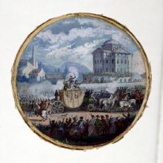 Traslado de Luis XVI y María Antonieta de Varennes a París