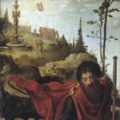 Santiago el Mayor y once orantes / San Jorge