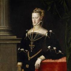 La emperatriz María de Austria, esposa de Maximiliano II
