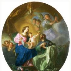 La Virgen María con el Niño y Santiago el Mayor