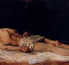 Hombre desnudo tendido
