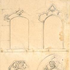 Cuatro portadas del Monasterio de Santa María del Paular (?), Rascafría (Madrid)