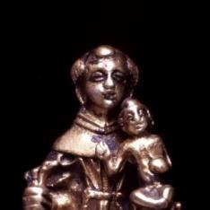 Colgante devocional con San Antonio de Padua