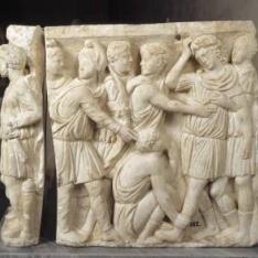 Sarcófago con la historia de Aquiles y Políxena