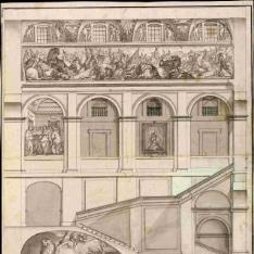 Sección de la escalera principal de El Escorial