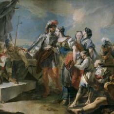 La reina Zenobia ante el emperador Aureliano