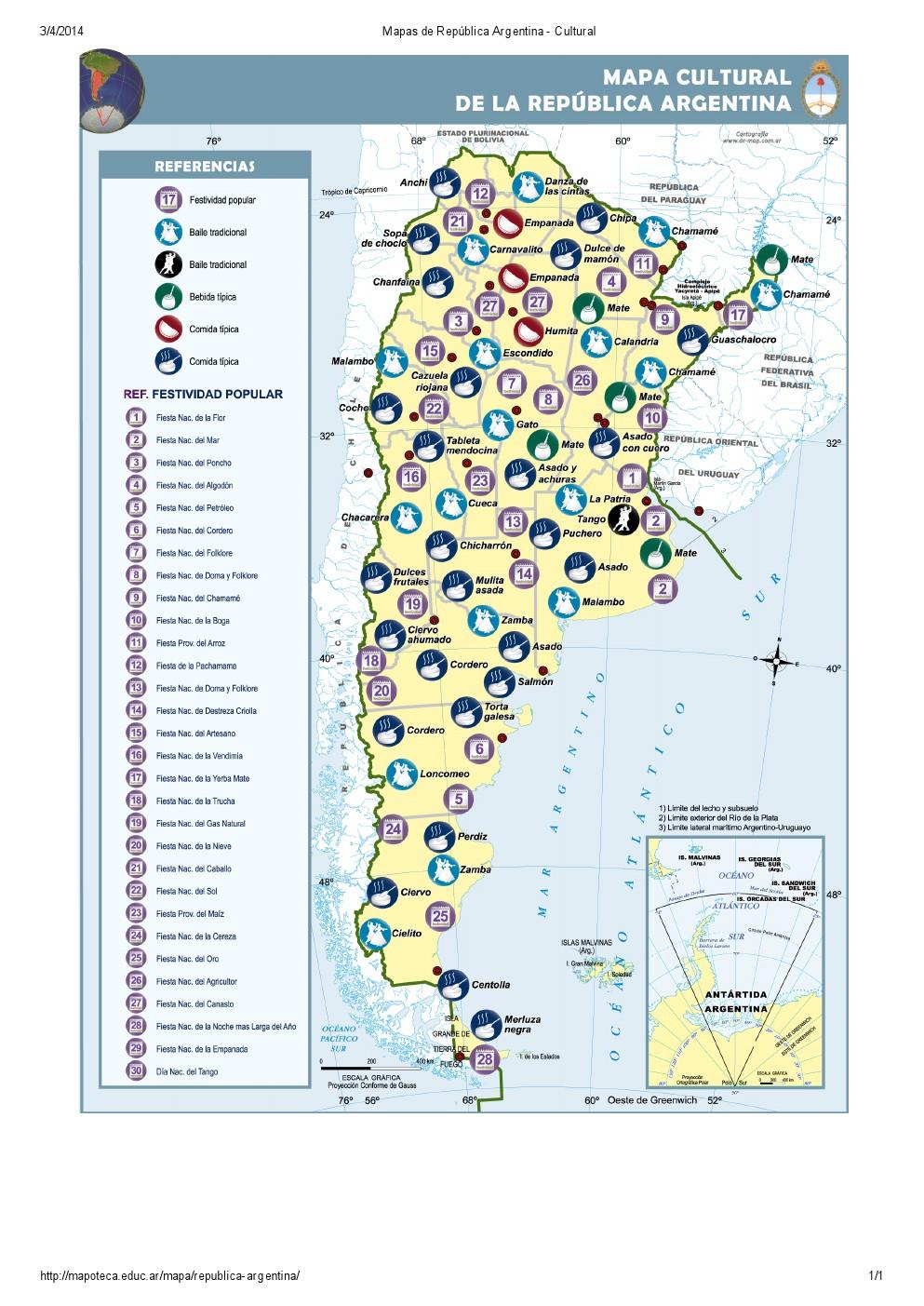 Mapa cultural de Argentina. Mapoteca de Educ.ar