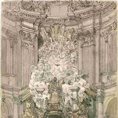 Altar de la Cátedra de San Pedro en el Vaticano