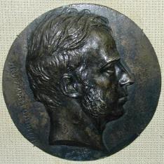 Medallón con el retrato de Francisco Epoz y Mina