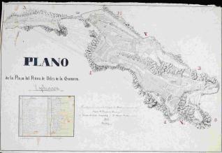 Plano de la Plaza del Peñon de Velez de la Gomera