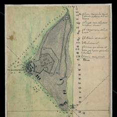 Plan de uno de los 12 caios de la Tortuguilla