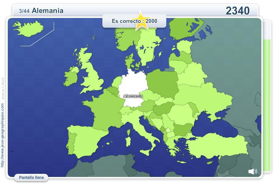 Geo Quizz Europa. Juegos Geográficos