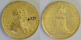 Medalla conmemorativa del monumento a Carlos IV realizado por Tolsá para la ciudad de México