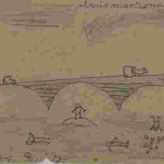 Elrrio manzanares [i.e. El río Manzanares