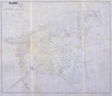 Plano de la Albufera de Alcudia