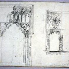 Detalle de puerta y ventana de San Gregorio de Valladolid