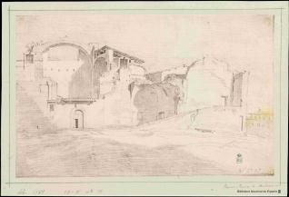 Vista de parte de los restos de las Termas de Diocleciano