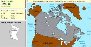 Provinces of Canada. Advanced Beginner. Sheppard Software