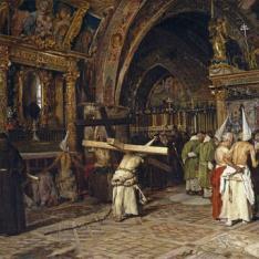 Penitentes en la Basílica Inferior de Asís