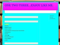 one, two, three enjoy like me