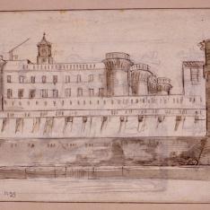 Vista exterior del Castel Nuovo de Nápoles
