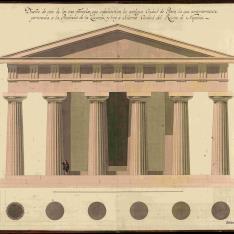 Alzado y planta del templo de Neptuno en Paestum
