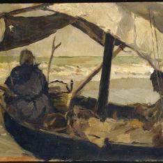 Pescadores en la barca