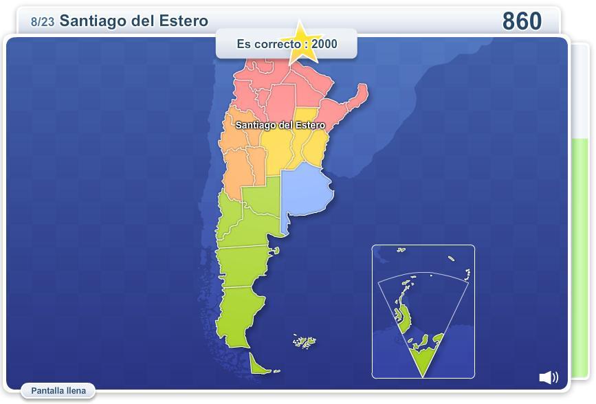 Provincias de Argentina. Juegos Geográficos
