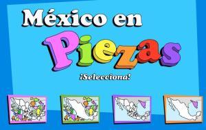 Estados de México. Puzzle. INEGI de México