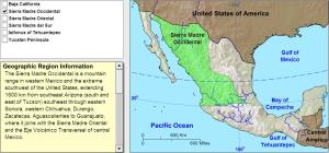 Geographic regions of Mexico. Tutorial. Sheppard Software