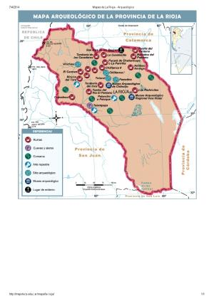 Mapa arqueológico de La Rioja. Mapoteca de Educ.ar