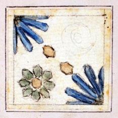 Motivo decorativo de azulejo del Palacio de Mosén Sorell, Valencia (?)