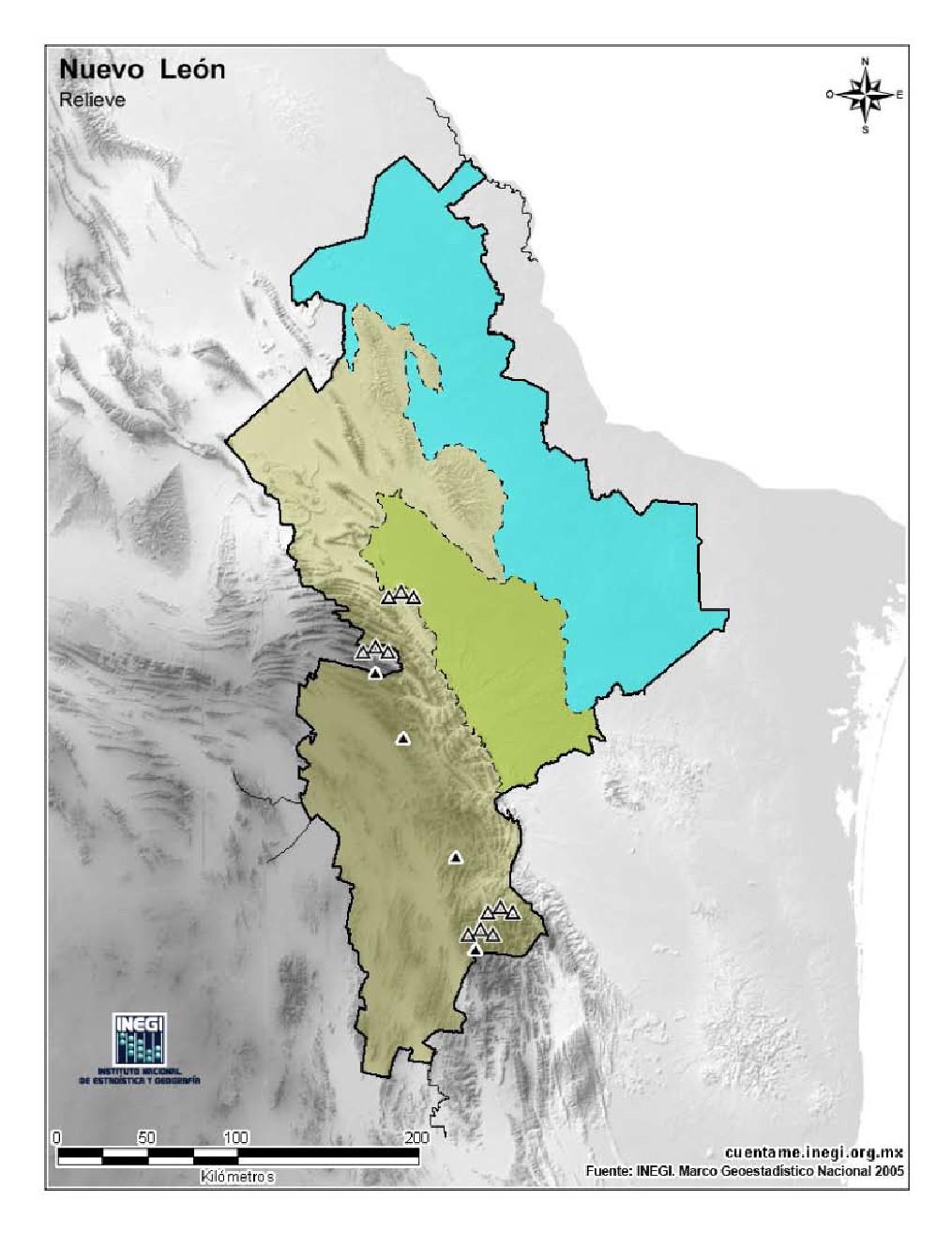 Mapa Para Imprimir De Nuevo León Mapa Mudo De Montañas De