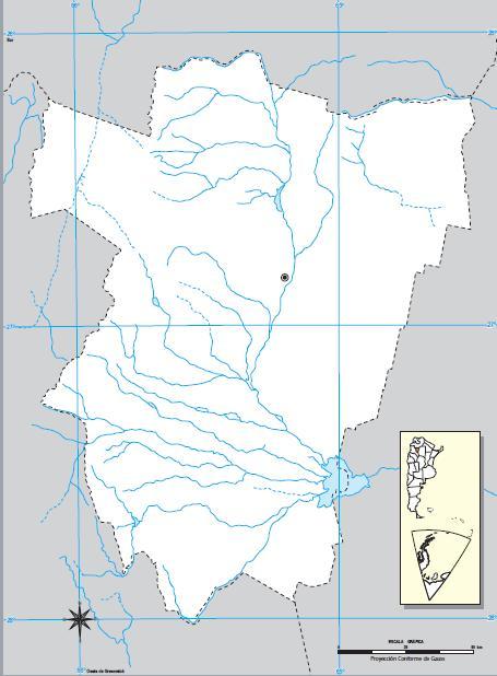 Mapa mudo de Tucumán. IGN de Argentina